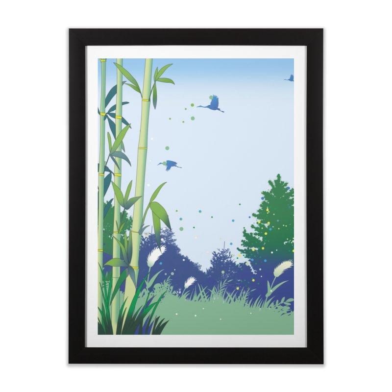 近づく秋の気配 Home Framed Fine Art Print by Kawano Art Shop