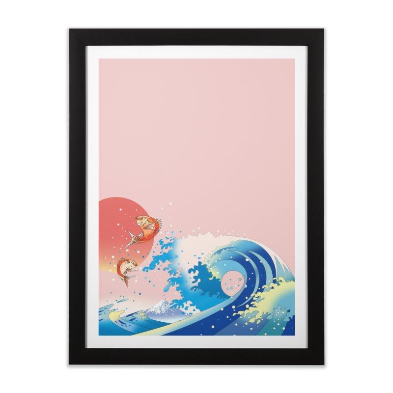 鯛のと波と朝日 Home Framed Fine Art Print by Kawano Art Shop