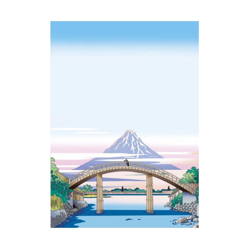 橋から富士山をみる Home Framed Fine Art Print by Kawano Art Shop