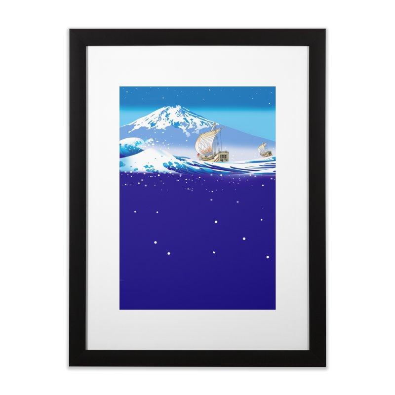 波越えて Home Framed Fine Art Print by Kawano Art Shop