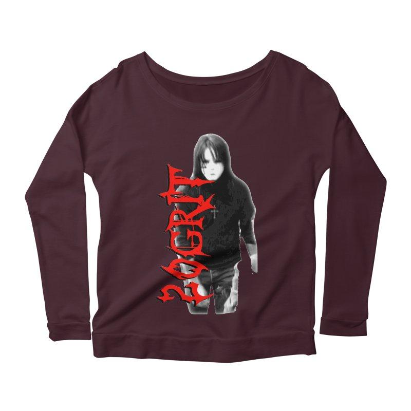 20GRIT - #27a Women's Scoop Neck Longsleeve T-Shirt by 20grit's Band Artist Shop