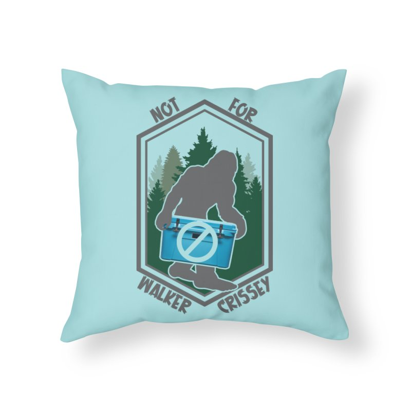 No Yeti For You Home Throw Pillow by 21 Squirrels Brewery Shop