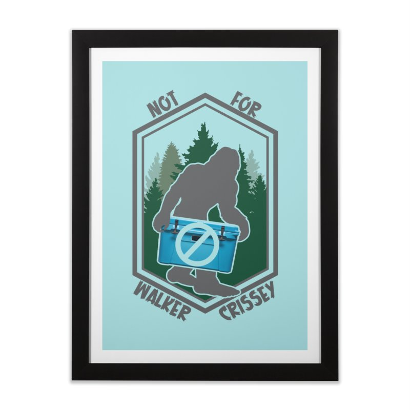 No Yeti For You Home Framed Fine Art Print by 21 Squirrels Brewery Shop