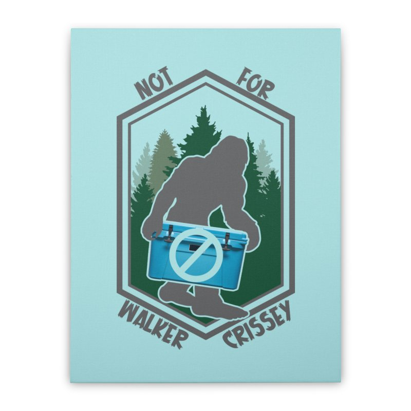No Yeti For You Home Stretched Canvas by 21 Squirrels Brewery Shop