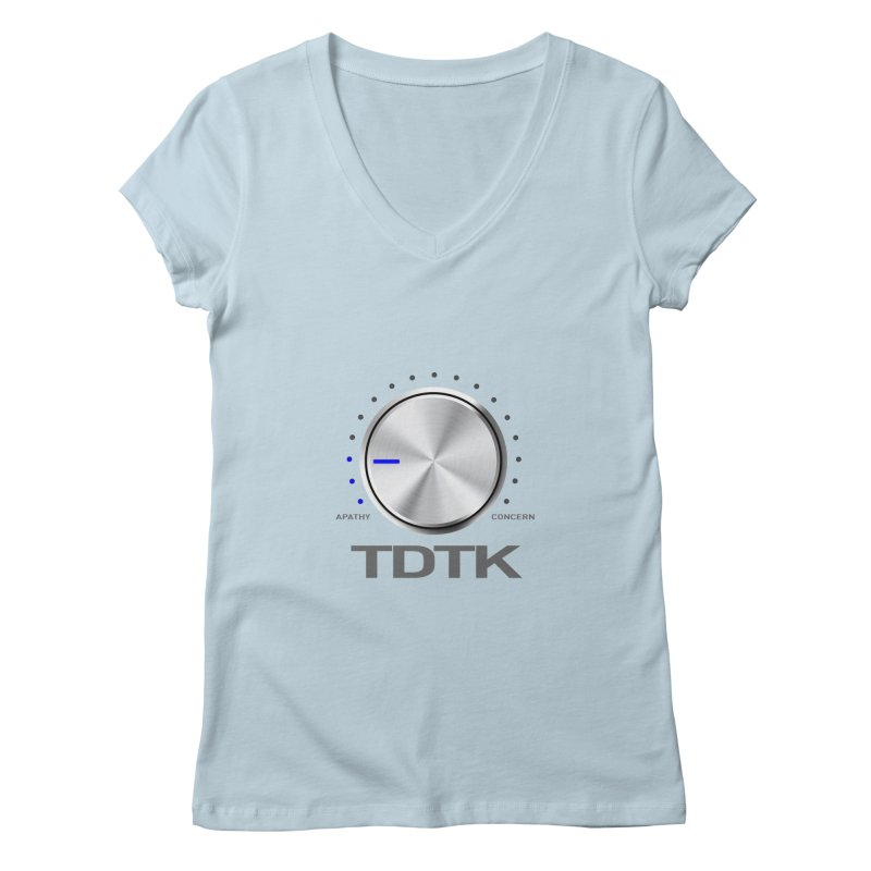Turn Down The Knob - TDTK Women's V-Neck by 21 Squirrels Brewery Shop