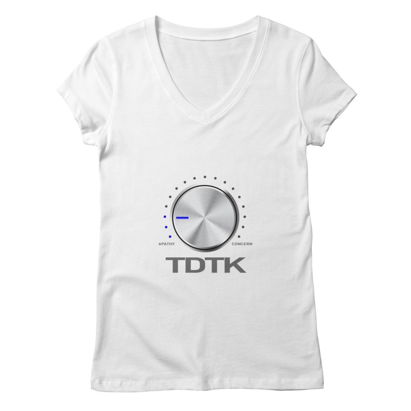 Turn Down The Knob - TDTK Women's Regular V-Neck by 21 Squirrels Brewery Shop