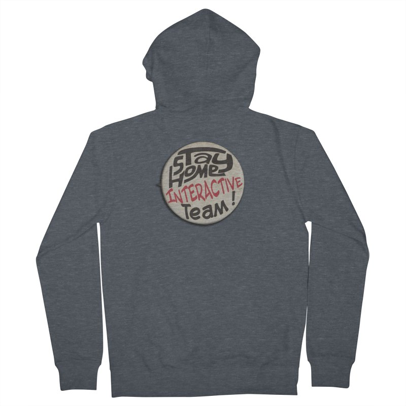 Stay Home Interactive Team Button Women's Zip-Up Hoody by 21 Squirrels Brewery Shop