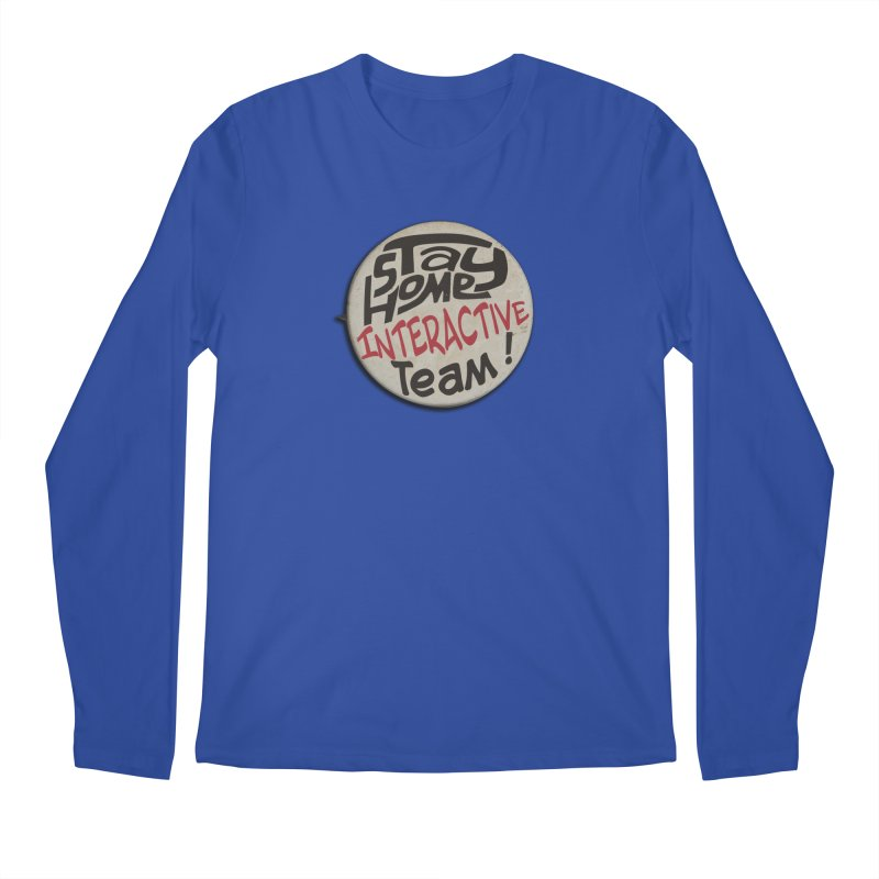 Stay Home Interactive Team Button Men's Longsleeve T-Shirt by 21 Squirrels Brewery Shop