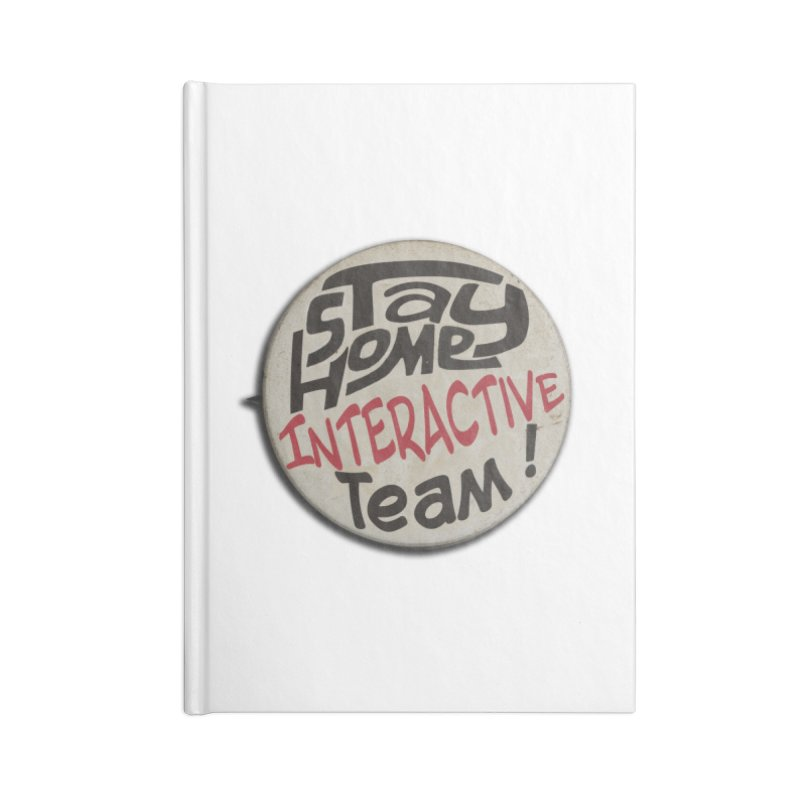 Stay Home Interactive Team Button Accessories Notebook by 21 Squirrels Brewery Shop