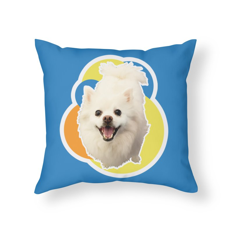 Connie is always happy Home Throw Pillow by 21 Squirrels Brewery Shop