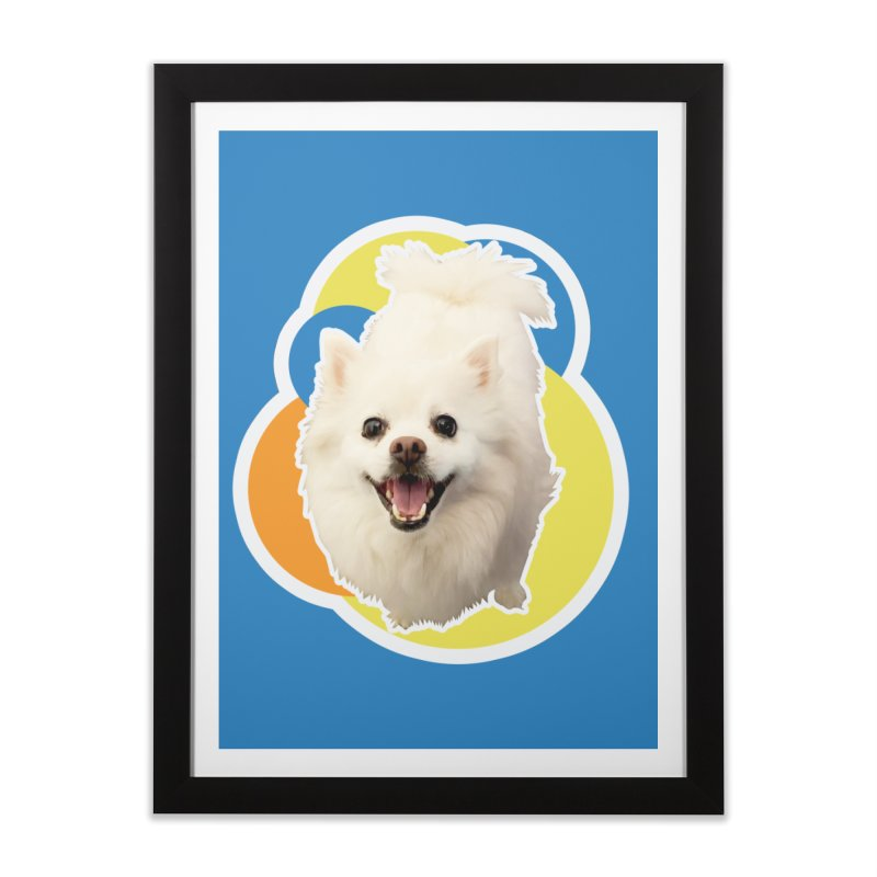 Connie is always happy Home Framed Fine Art Print by 21 Squirrels Brewery Shop