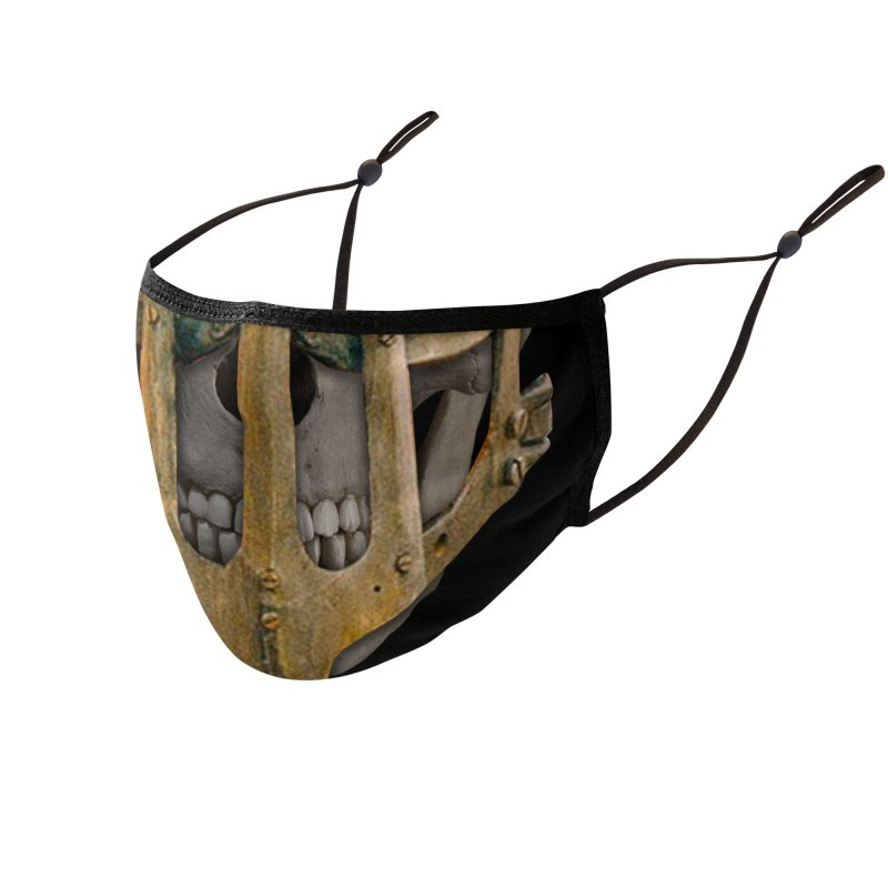 Mad Skull Restricted Accessories Face Mask by 21 Squirrels Brewery Shop