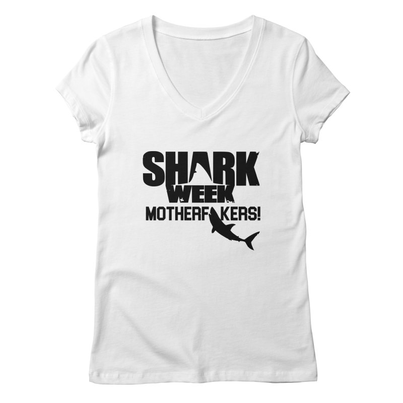 Big Gretch Shark Week Mother Fers Women's V-Neck by 21 Squirrels Brewery Shop