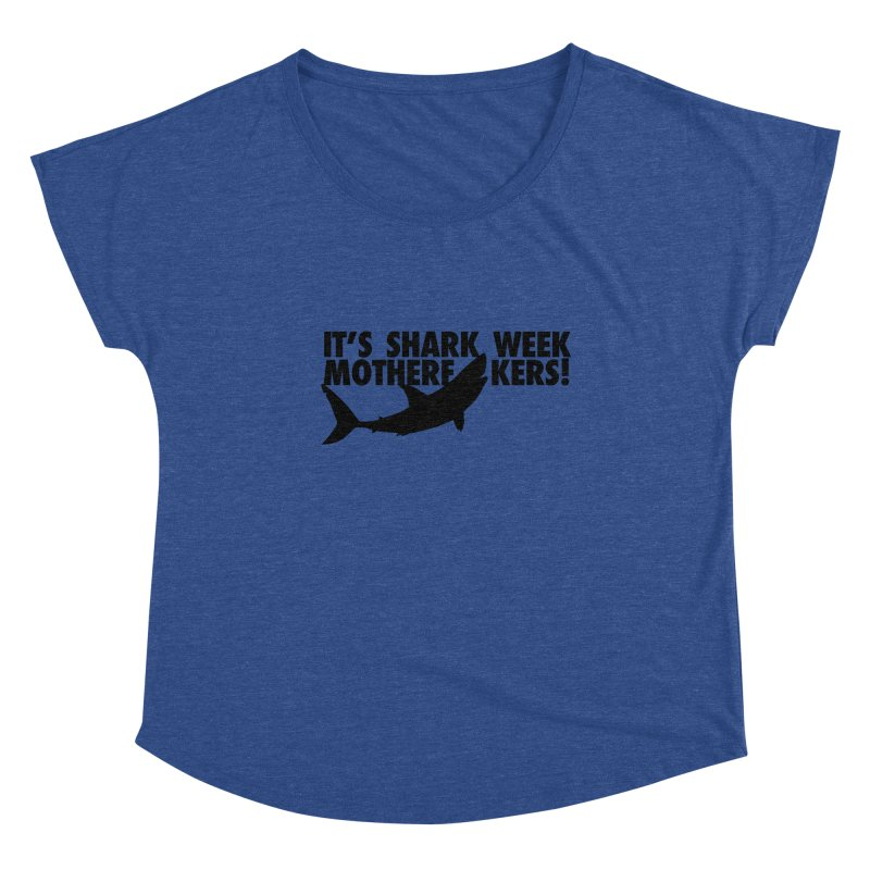 It's Shark Week Mother F--kers! Big Gretch (Light Colors) Women's Scoop Neck by 21 Squirrels Brewery Shop