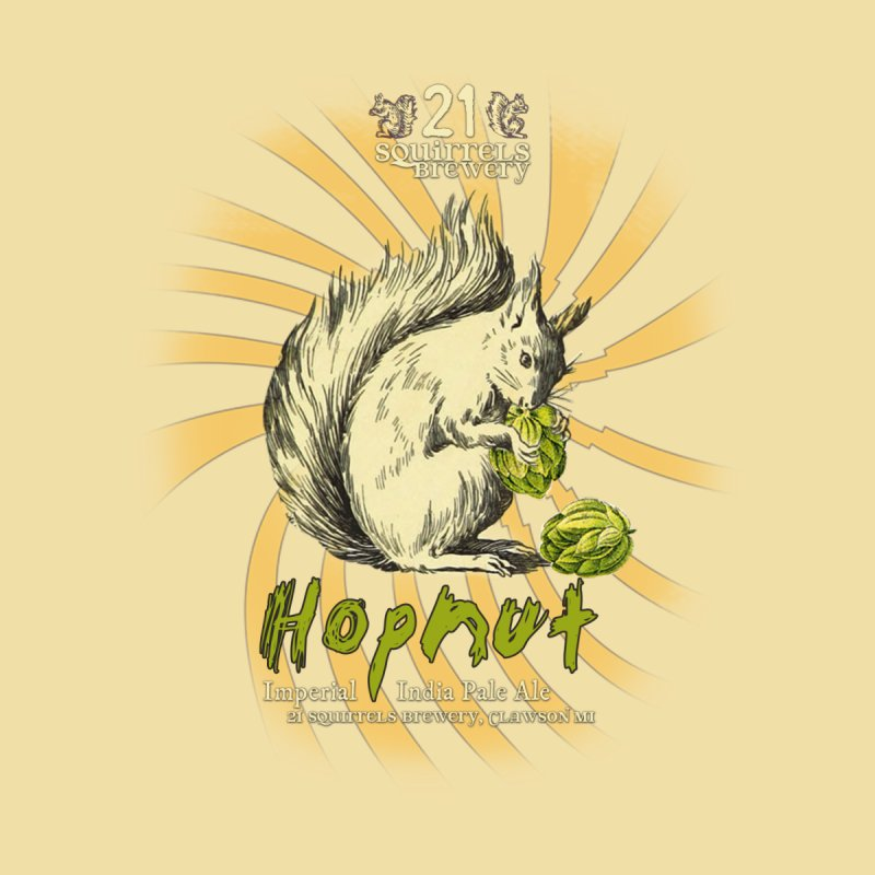 21 Squirrels Hopnut Label   by 21 Squirrels Brewery Shop