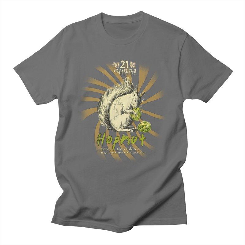 21 Squirrels Hopnut Label Men's T-Shirt by 21 Squirrels Brewery Shop