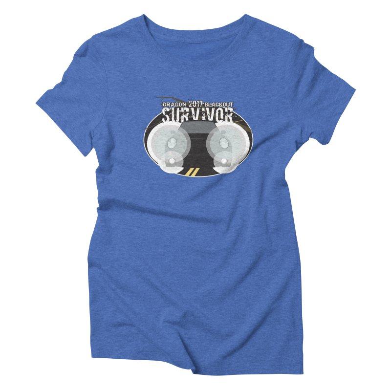 Dragon Blackout Survivor Women's Triblend T-shirt by 21 Squirrels Brewery Shop