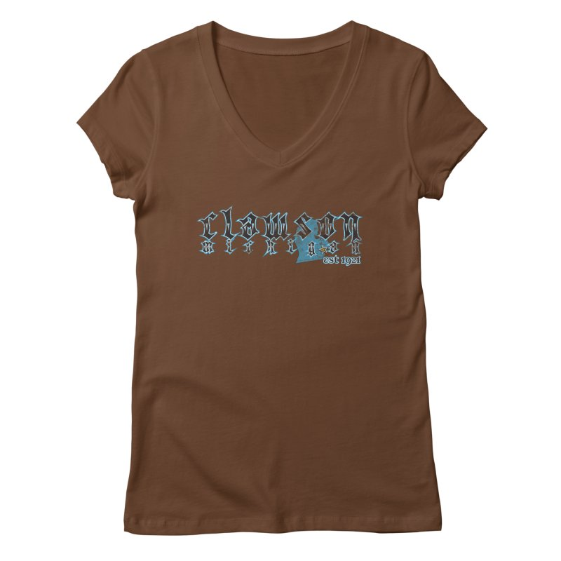 Clawson, Michigan Women's V-Neck by 21 Squirrels Brewery Shop