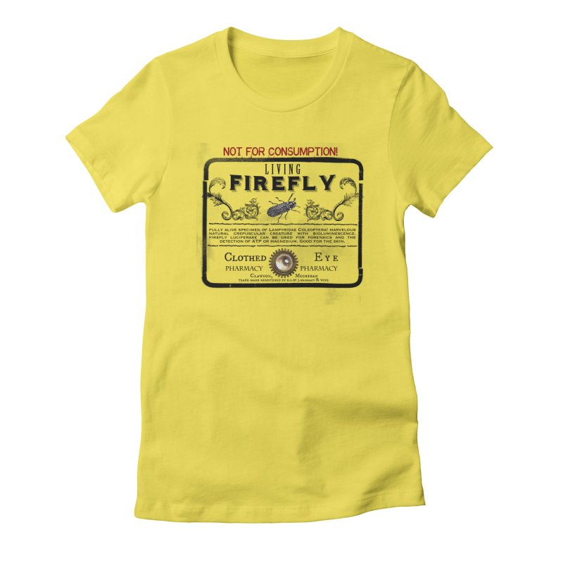 Clothed Eye - Firefly Women's Fitted T-Shirt by 21 Squirrels Brewery Shop