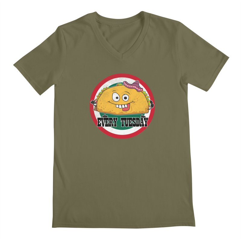 Every Tuesday Men's Regular V-Neck by 21 Squirrels Brewery Shop