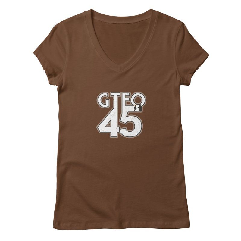GTFO45 Women's V-Neck by 21 Squirrels Brewery Shop