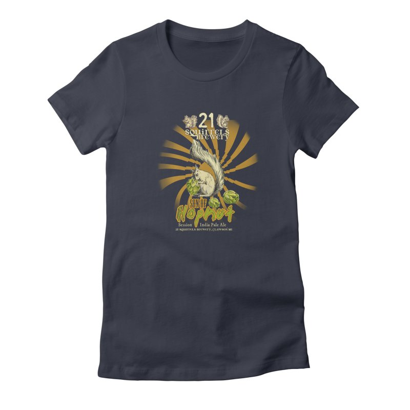 21 Squirrels Brewery Son of Hopnut Women's Fitted T-Shirt by 21 Squirrels Brewery Shop