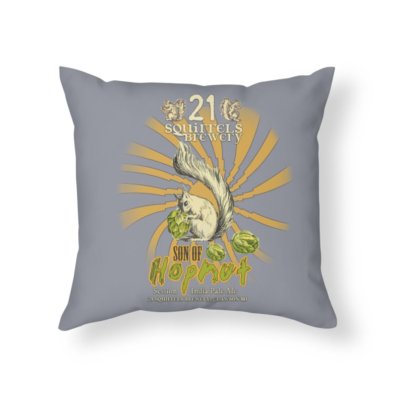 21 Squirrels Brewery Son of Hopnut Home Throw Pillow by 21 Squirrels Brewery Shop