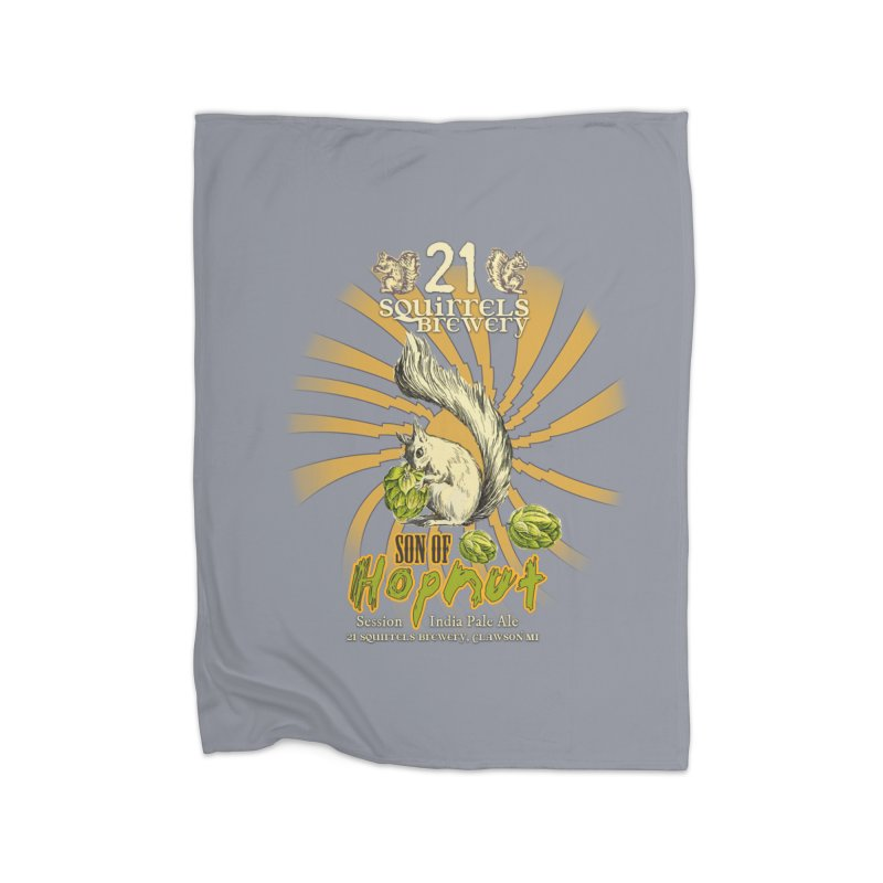 21 Squirrels Brewery Son of Hopnut Home Blanket by 21 Squirrels Brewery Shop