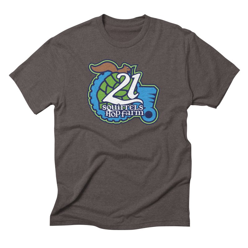 21 Squirrels Hop Farm Men's Triblend T-Shirt by 21 Squirrels Brewery Shop