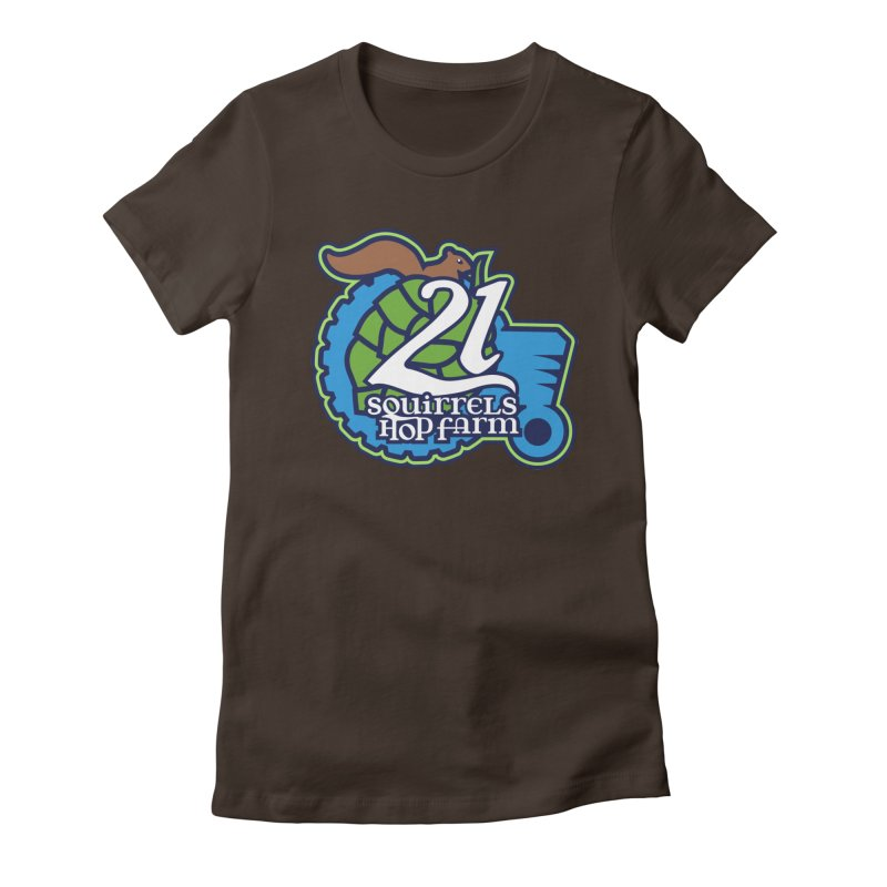 21 Squirrels Hop Farm Women's Fitted T-Shirt by 21 Squirrels Brewery Shop