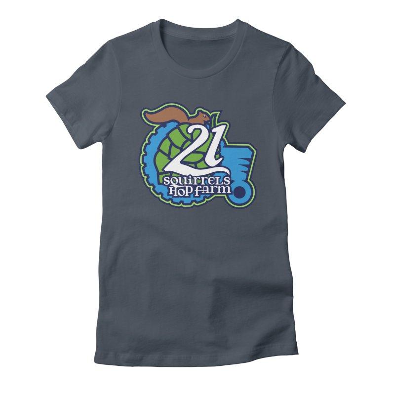 21 Squirrels Hop Farm Women's T-Shirt by 21 Squirrels Brewery Shop