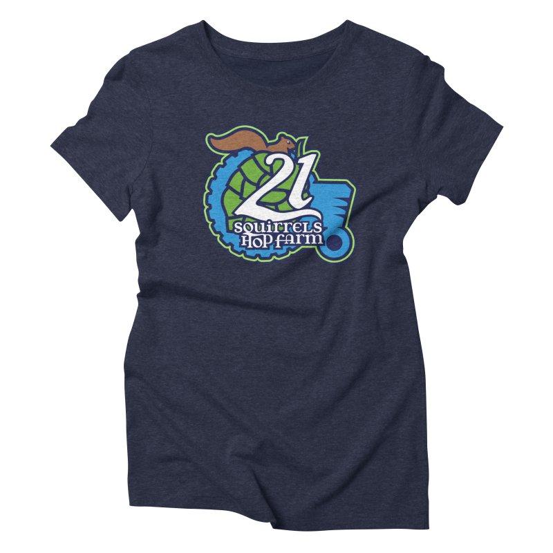 21 Squirrels Hop Farm Women's Triblend T-shirt by 21 Squirrels Brewery Shop