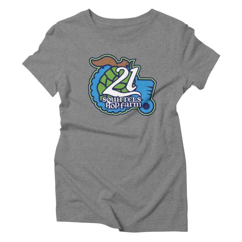 21 Squirrels Hop Farm Women's Triblend T-Shirt by 21 Squirrels Brewery Shop
