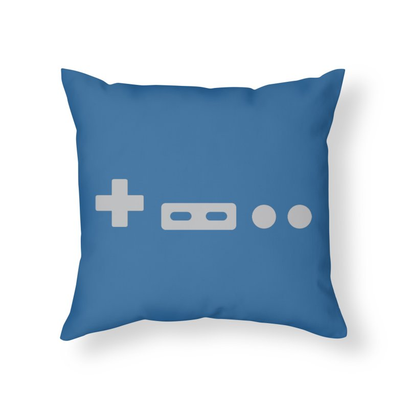 Minimal Controller Home Throw Pillow by 21 Squirrels Brewery Shop