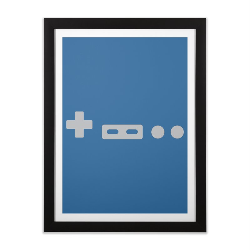 Minimal Controller Home Framed Fine Art Print by 21 Squirrels Brewery Shop