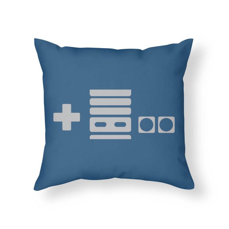 Minimal Controller Alt Home Throw Pillow by 21 Squirrels Brewery Shop