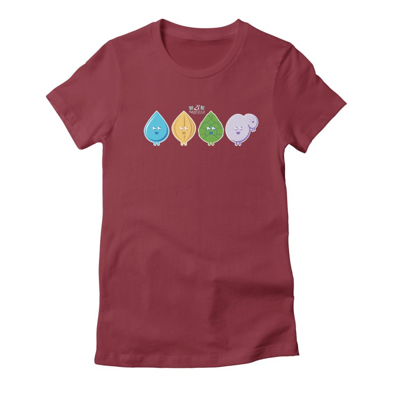 21 Squirrels Happy Ingredients Women's Fitted T-Shirt by 21 Squirrels Brewery Shop