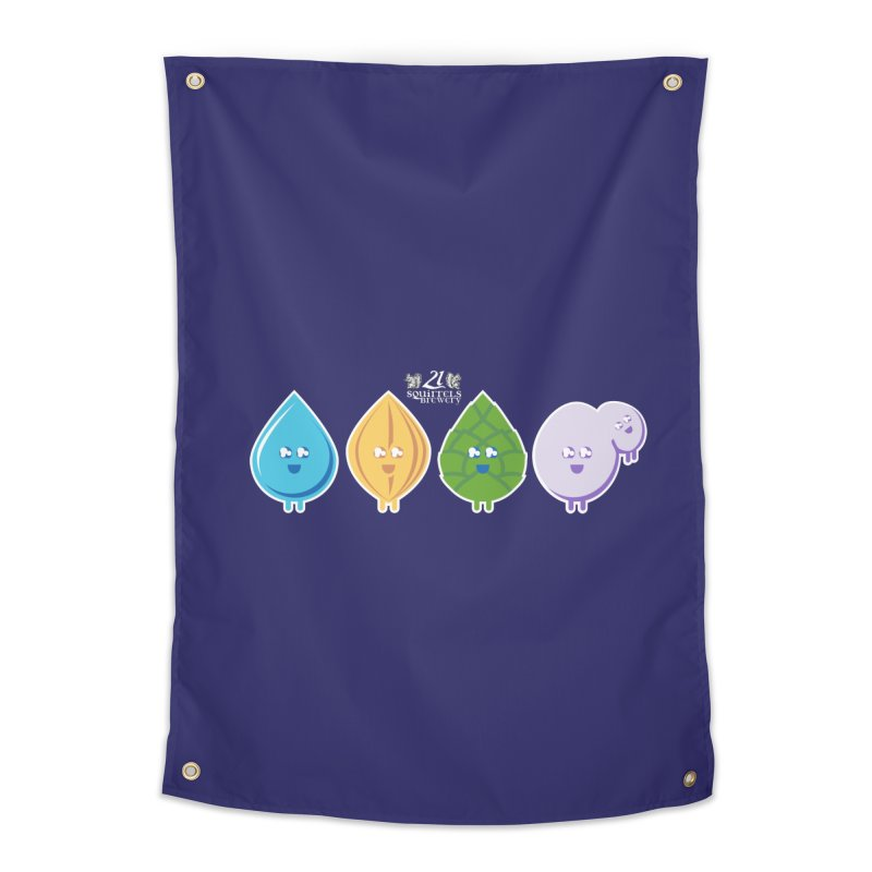 21 Squirrels Happy Ingredients Home Tapestry by 21 Squirrels Brewery Shop