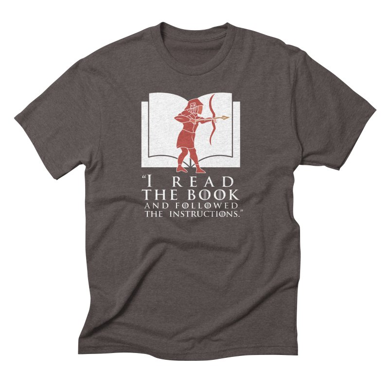 I read the book... white print Men's Triblend T-shirt by 21 Squirrels Brewery Shop
