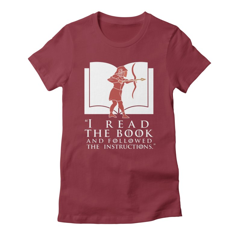 I read the book... white print Women's Fitted T-Shirt by 21 Squirrels Brewery Shop