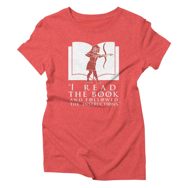 I read the book... white print Women's Triblend T-shirt by 21 Squirrels Brewery Shop