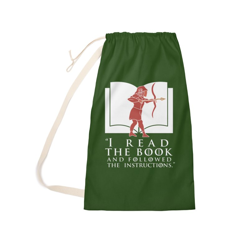 I read the book... white print Accessories Bag by 21 Squirrels Brewery Shop