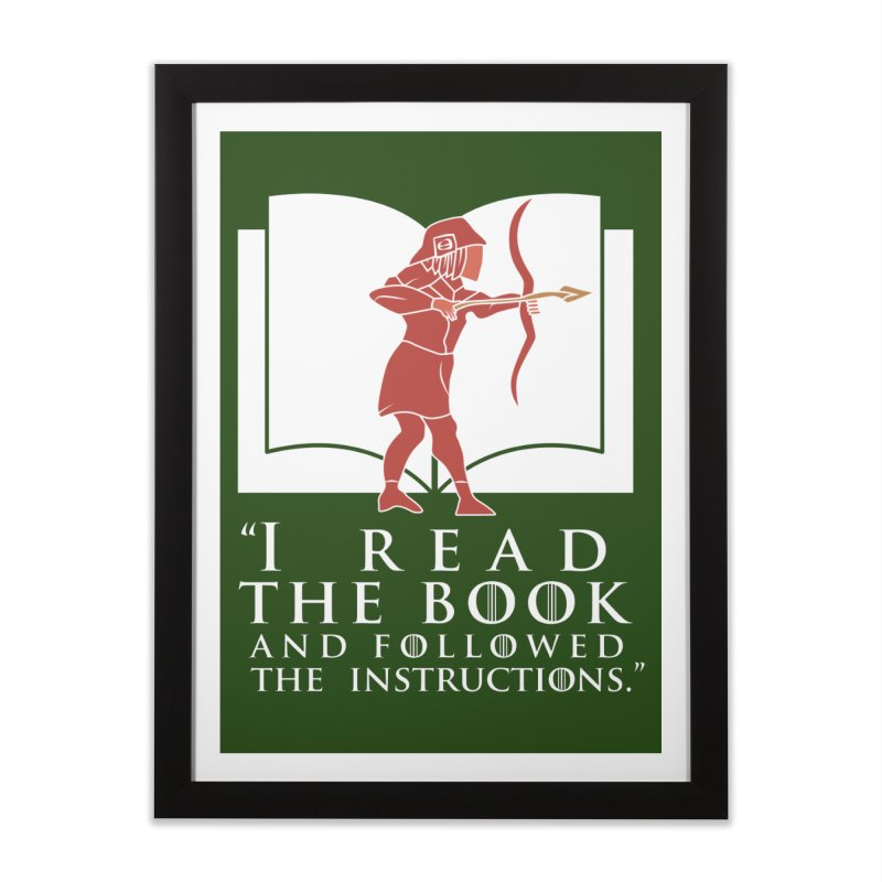 I read the book... white print Home Framed Fine Art Print by 21 Squirrels Brewery Shop