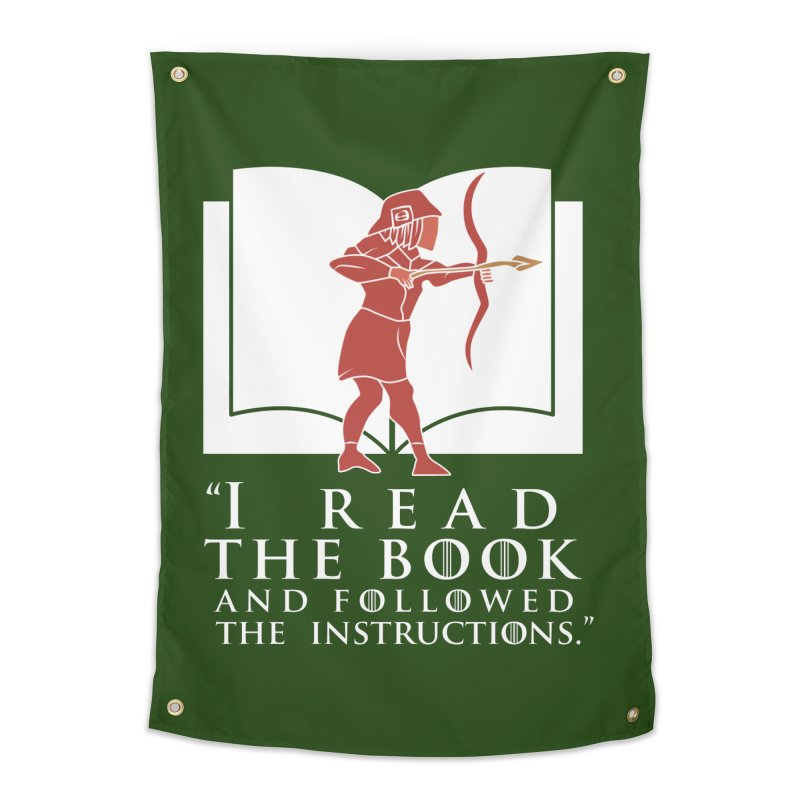 I read the book... white print Home Tapestry by 21 Squirrels Brewery Shop