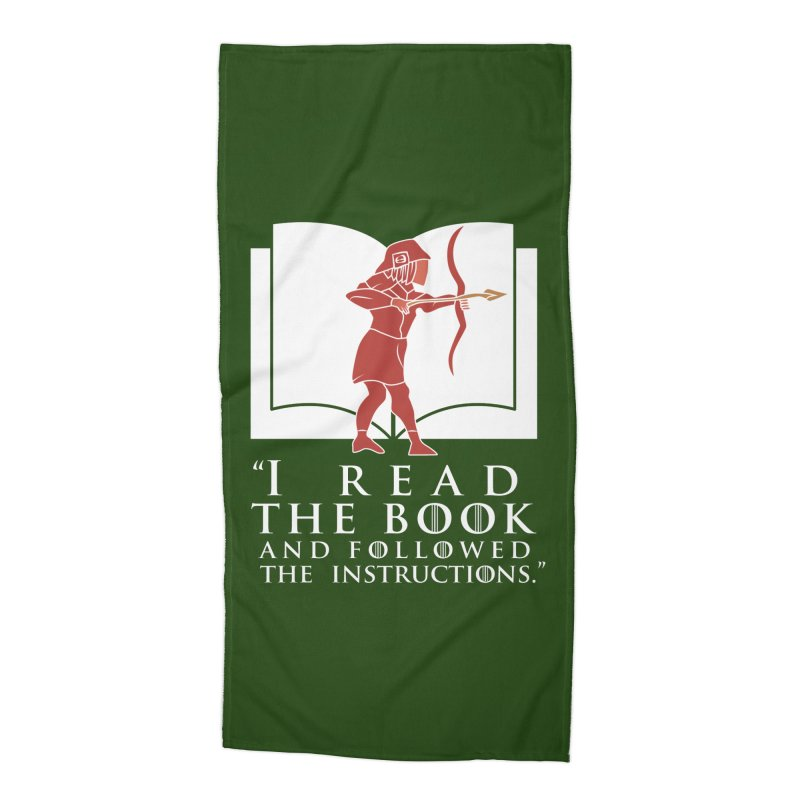 I read the book... white print Accessories Beach Towel by 21 Squirrels Brewery Shop