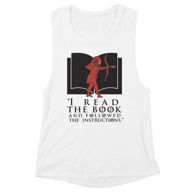 I read the book... dark print Women's Muscle Tank by 21 Squirrels Brewery Shop