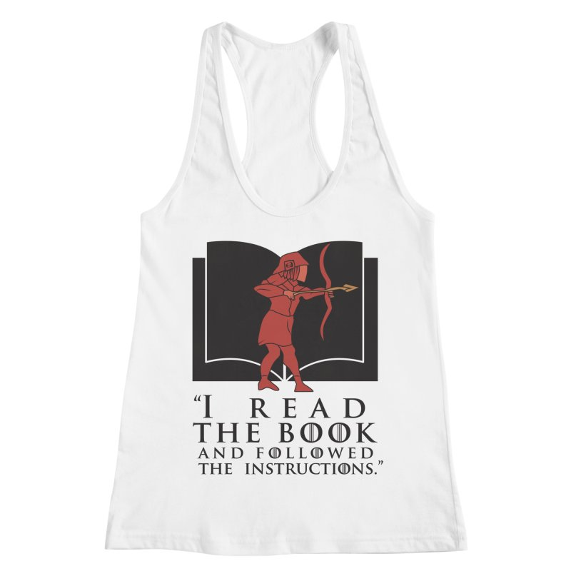 I read the book... dark print Women's Racerback Tank by 21 Squirrels Brewery Shop
