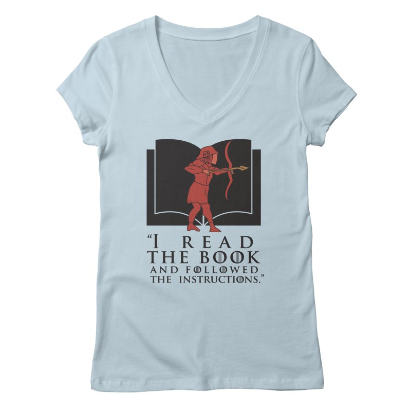 I read the book... dark print Women's V-Neck by 21 Squirrels Brewery Shop
