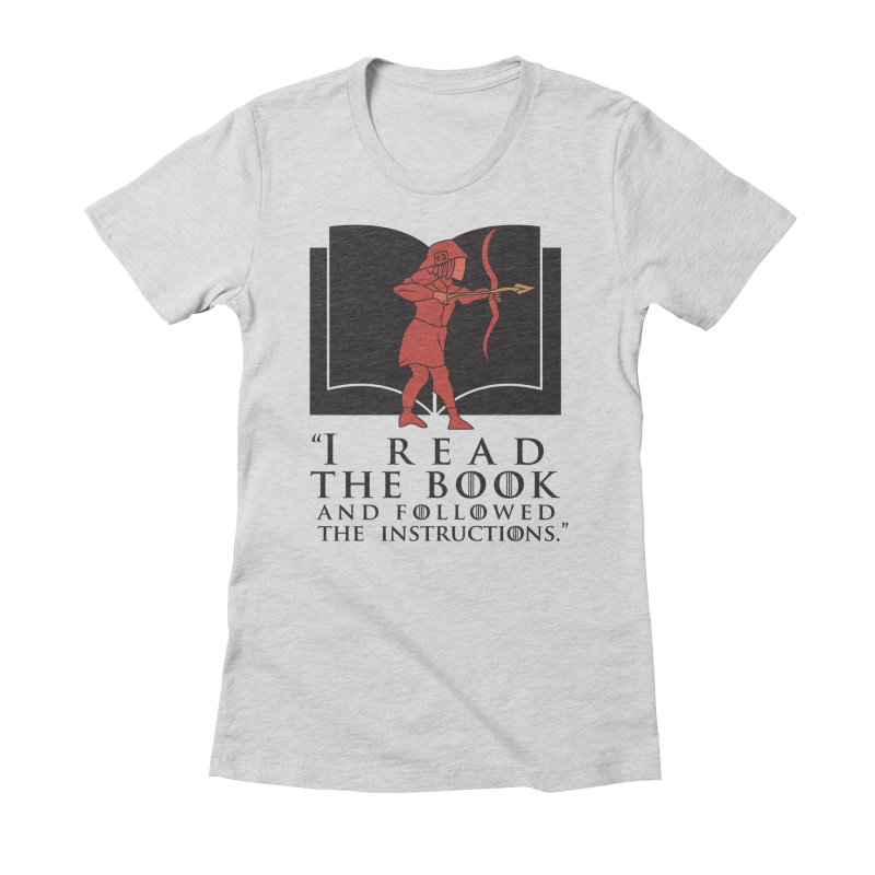 I read the book... dark print Women's Fitted T-Shirt by 21 Squirrels Brewery Shop