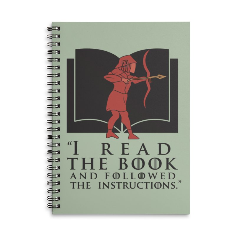 I read the book... dark print Accessories Lined Spiral Notebook by 21 Squirrels Brewery Shop